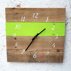 Reclaimed Wood Clock