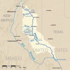 The Pecos River, which played a key role in the Spanish exploration of Texas, stretches for 926 miles from Pecos, N.M. through Texas before emptying into the Rio Grande near Del Rio, Texas. The Pecos ...