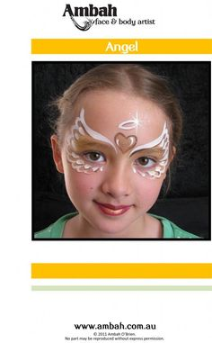 Christmas Step x Step Angel Face Painting Design