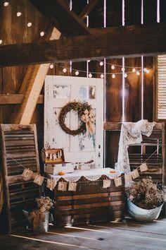 Erica and Chad's Autumn Wedding - The Gish Barn Wedding Decorations, Wedding Ideas, Table Decorations, Rustic Weddings, Autumn Wedding, Wedding Bells, Rustic Decor, Fall Decor, Reception