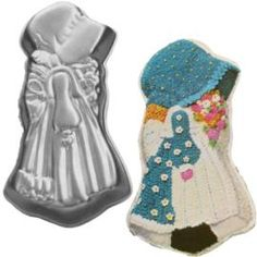 Holly Hobbie Wilton cake pan . . . my Mom spent hours and hours with that star tip making my birthday cakes.  No wonder she has arthritis now!