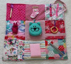 Fidget Blanket  Perfectly Pink  Sensory Activity Lap Quilt