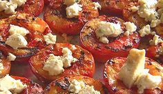 Grilled Nectarines With Bleu Cheese And Honey