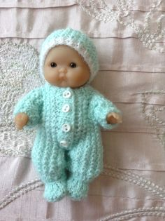 Hand knitted dolls clothes to fit a 5 Berenguer by HandKnittedbyme