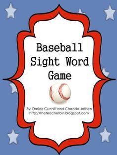 Baseball Sight Word Game