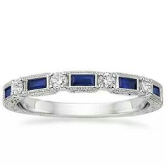 Very pretty accent band that could be added for some flair. #bands #sapphire