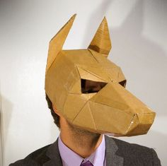 Doberman Dog Mask make your own mask from digital by Wintercroft