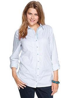 Feminine stretch blouse with fine stripes in the s.Oliver Online Shop