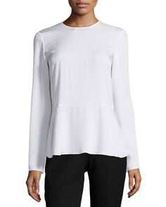 TAYGB Theory Malydie Long-Sleeve Silk Top