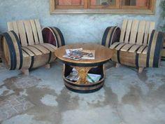 Muebles hechos con barricas de vino |Practicos diseños