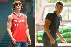 Zac Efron hot then hot now