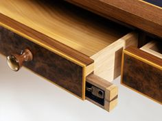 Dovetailed drawers is expected in quality furniture. But dovetailed secret drawers is a whole new level Dovetailed drawers is expected in quality furniture. But dovetailed secret drawers is a whole new level of awesome. Secret Hiding Places, Hiding Spots, Hidden Spaces, Hidden Rooms, Secret Storage, Hidden Storage, Gun Storage, Diy Deco Rangement, Hidden Compartments