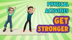 20 Min Physical Activities For Kids To Get Stronger Physical Activities For Kids, Pe Activities, Health And Physical Education, Gross Motor Activities, Movement Activities, Dementia Activities, Health Activities, Music Education, Yoga For Kids