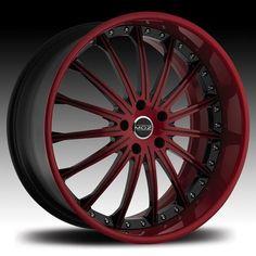 red black 20 rims | Wheels Rims Montecito 19 20 22 24 26 inch Red Black Detail…