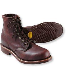 Katahdin Iron Works Engineer Boots, Plain-Toe