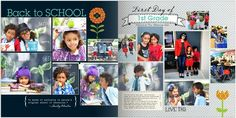 Back-to-School pages from my Project Life 2012 Shutterfly photobook