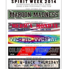Themes - Student Council Advice                                                                                                                                                                                 More Spirt Week Ideas, Spirit Week Themes, Student Council Activities, High School Activities, Student Council Ideas, Student Gov, Student Leadership, Homecoming Spirit Week, Homecoming Themes