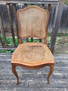 restyled french cane chair, diy, home decor, painted furniture, repurposing upcycling, reupholster