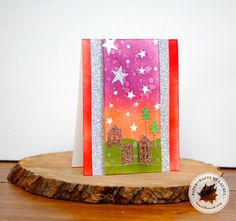 Christmas Night Card by @laurelbeard using the Home & Hearth dies.  #EssentialsbyEllen #ellenhutsonllc #Home&Hearth