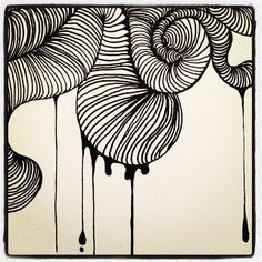 Doodle Diem. Zen Doodle, Doodle Art, Mixed Media Techniques, Doodle Drawings, Tangled, Swirls, Easy Crafts, How To Draw Hands, Black And White