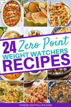 Enjoy these delicious zero point Weight Watchers recipes without guilt. These recipes are perfect for when you need a zero point meal to stay on track. Weight Watchers Food Points, Weight Watchers Lunches, Weight Watchers Meal Plans, Weigh Watchers, Weight Watchers Breakfast, Weight Watcher Dinners, Weight Watchers Chicken, Weight Watchers Salmon, Weight Watchers Casserole