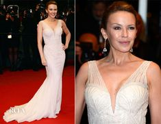 Kylie Minogue In Roberto Cavalli at Cannes Premiere