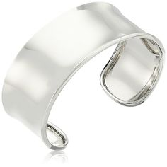 Sterling Silver Wide Polished Cuff Bracelet, 2.5' -- Check out the image by visiting the link.