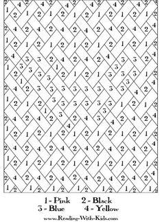 54 beste afbeeldingen van kleuren op nummer of letter