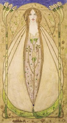 Correction:: Apparently many of these works are by Dai and Jenny Vaughan  done in a similar style the MacDonald Sisters. Sorry for the errors! I  hope this is right but I believe these are the works by Dai and Jenny  Vaughan:  The MacDonald sisters Margaret MacDonald Mackintosh and Frances MacDonald  MacNair along with both their husbands were known as the Glasgow School.  The four were a huge influence on the Art Nouveau movement. They are  credited for being influential on artist Gustav…