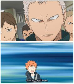 No Eyebrows... | Hinata is my Sunshine | Haikyuu!! | Anime