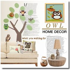 owl city by limass on Polyvore featuring polyvore, interior, interiors, interior design, home, home decor, interior decorating, DwellStudio, MacKenzie-Childs and Jay Strongwater