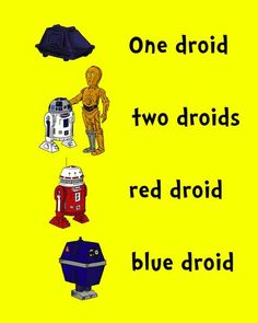 Dr. Seuss mashed up with Star Wars.