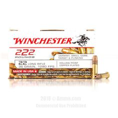 Winchester 22 LR Ammo - 2220 Rounds of 36 Grain CPHP Ammunition #Winchester #WinchesterAmmo #22LRAmmo #22LR #CPHP
