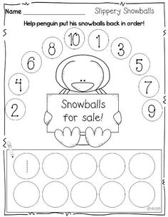 Print and Go {printables for winter}- number order md5 low group