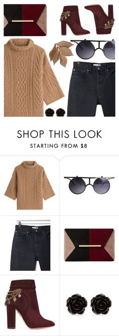 """""""Outfit (casual) #21"""" by tayscutts ❤ liked on Polyvore featuring MaxMara, RE/DONE, Dune, Aquazzura, Erica Lyons and Bliss Studio"""