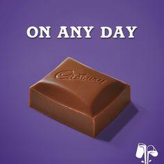 No reasons needed. Chocolate Gifts, Chocolate Lovers, Chocolate Cake, Chocolate Drawing, Cadbury World, Cadbury Dairy Milk Chocolate, Ads Creative, Chocolate Factory, Ice Cream