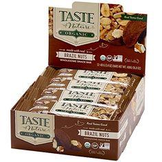Taste of Nature Snack Bars, Brazil Nut, Pack of 12 Taste of Nature http://www.amazon.com/dp/B008N1RMHC/ref=cm_sw_r_pi_dp_IadRwb0JBXXSK