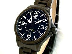 Sinn 856 UTC Black Tegimented on Bracelet - IMHO best military watch made - $2,380