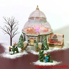 Dept 56 CRYSTAL GARDENS CONSERVATORY #59219 NRFB Christmas In City Village CIC