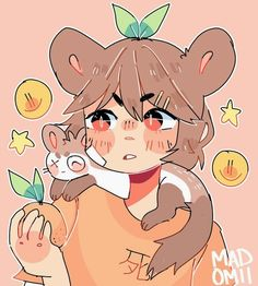 AA gift for Snowiitea bc i couldn't stand not drawing them ;kinda getting comfortable w/ this style idek,, Ferret Buds Cartoon Art Styles, Cute Art Styles, Kawaii Drawings, Cute Drawings, Arte Copic, Arte Indie, Art Style Challenge, Japon Illustration, Posca Art