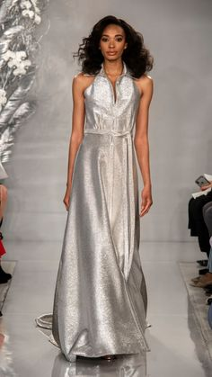 inspired wedding dresses in the Theia Spring 2020 Bridal Collection. These retro-inspired Theia wedding dresses are timeless and fresh for Theia Bridal, Bridal Gowns, Silver Weddings, Ball Skirt, Platinum Wedding, Beaded Gown, Mermaid Gown, African Fashion Dresses, Spring Dresses