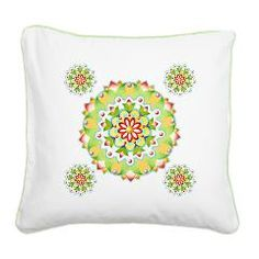 Kristofer's Mandala Square Canvas Pillow  by Patricia Shea Designs - for the month of April 10% of retail price goes to #AutismAwareness charities through #CafePress