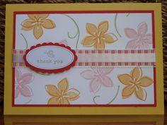 Cottage garden use secret garden background with vanilla card