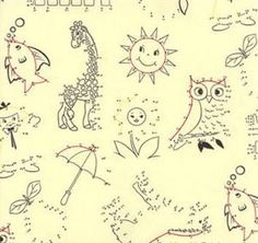Childrens Fabric, Kids fabric, Fun Fabric, Novelty Fabrics From ROOBYSFABRICS, FQ. £5.00, via Etsy.