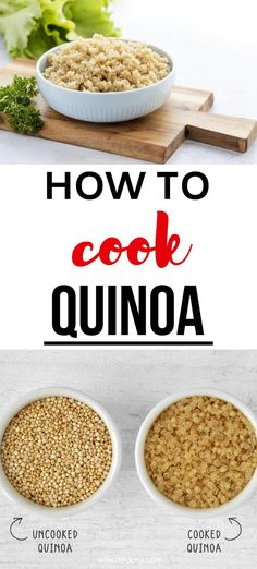 Become a quinoa pro!  Learn how to cook quinoa with these helpful tips and tricks that will enable you to make it perfectly on your stove top every time.  You know this superfood is good for you, and now it is time to master it. #quinoa #howtocookequinoa Best Quinoa Recipes, Gluten Free Recipes For Breakfast, Best Gluten Free Recipes, Quinoa Salad Recipes, Easy Healthy Recipes, Raw Food Recipes, Great Recipes, Dinner Recipes, Healthy Meals