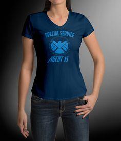 Agent 13 Shield Swoop Neck Women's tee