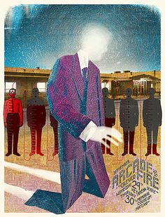Arcade Fire poster by Burlesque of North America