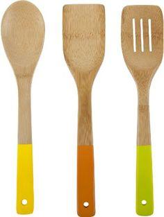 Core Bamboo Colorful Essentials Bamboo Utensil Set, Miami ❤ Core Bamboo