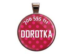 Super cute and stylish pink dog ID tag.