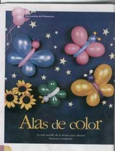 Tutorial Arte com balões - BORBOLETAS